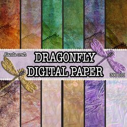 dragonfly-digital-backgrounds,scrapbooking, craft, paper craft