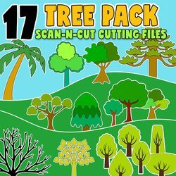 scan n cut trees cutting files