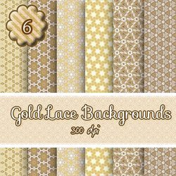 digital download backgrounds, gold lace backgrounds,scrapbooking, paper craft, card making