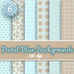 pastel blue digital background scrapbooking papers, scrapbooking, paper craft, card making